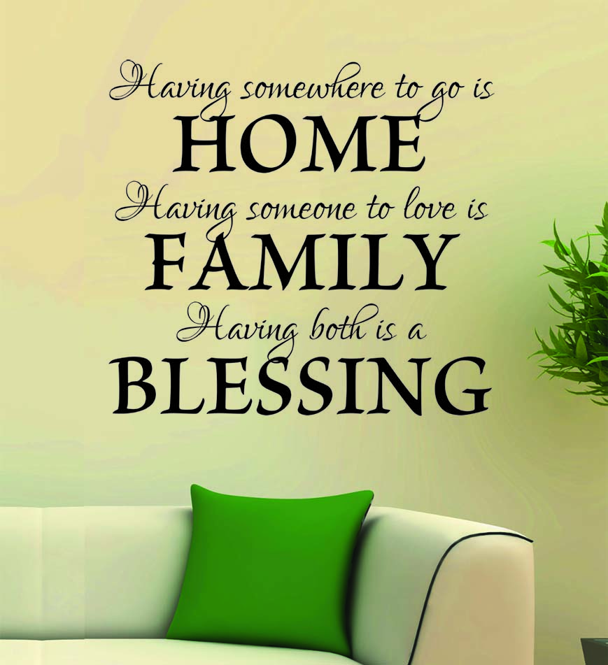 Art Decal: Wall Decal Life Quotes: Home, Family, Blessing | Alpha ...