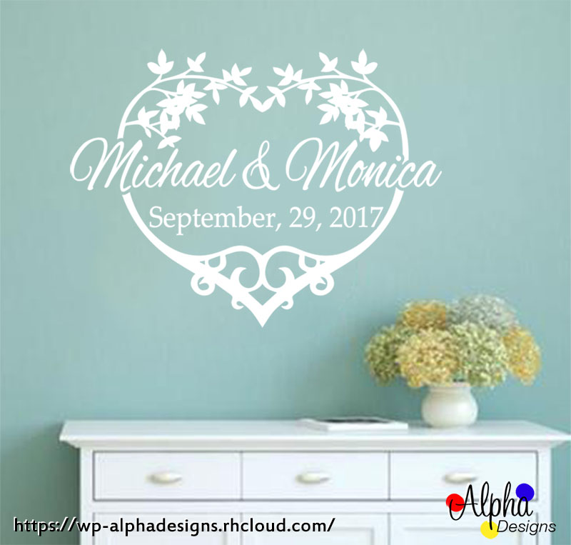 Personalised wedding remembrance decal 1 160909 01 160910 001
