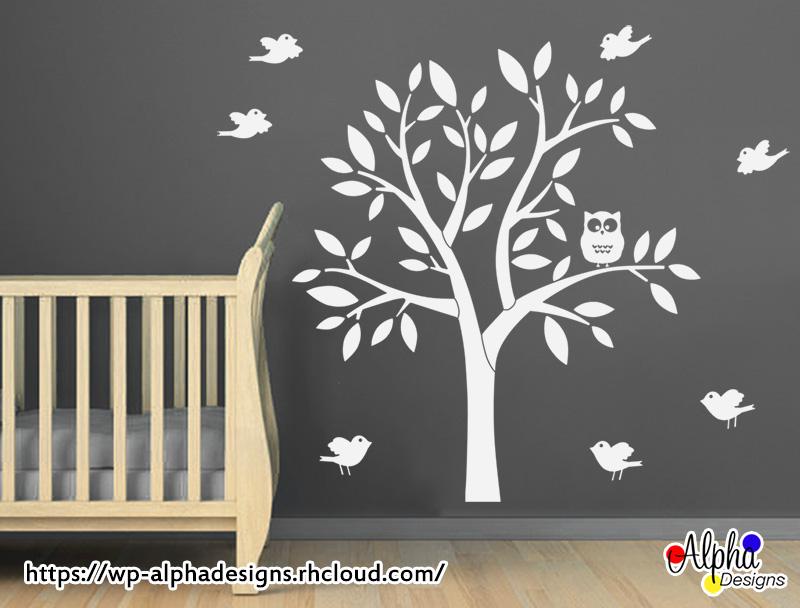 wall art decal: kids wall decal stickers: nursery wall decal – owl