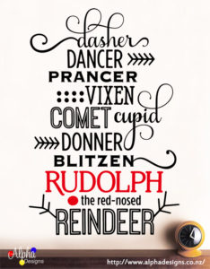 160214-Christmas decal - Rudolph (90Lx60W)-Alpha Designs