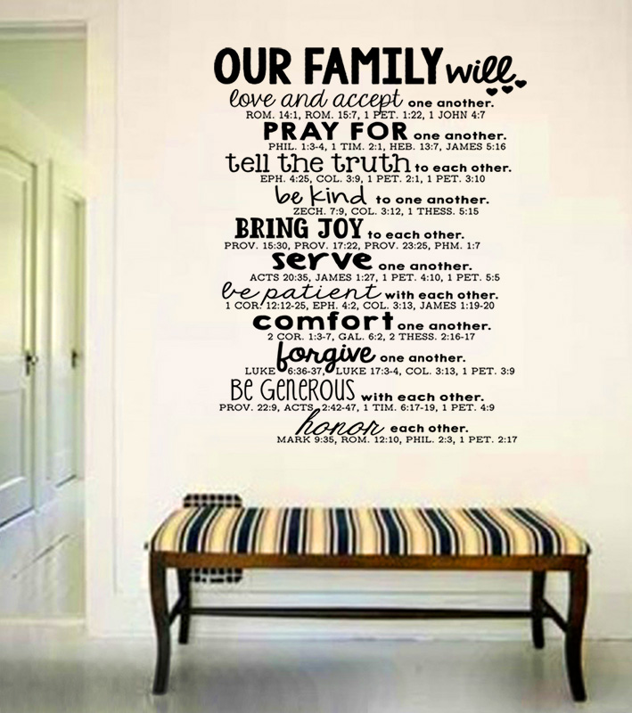 Bible Quote Simple Large Wall Art Family Bible Quote Decal Bible Verse Serve And