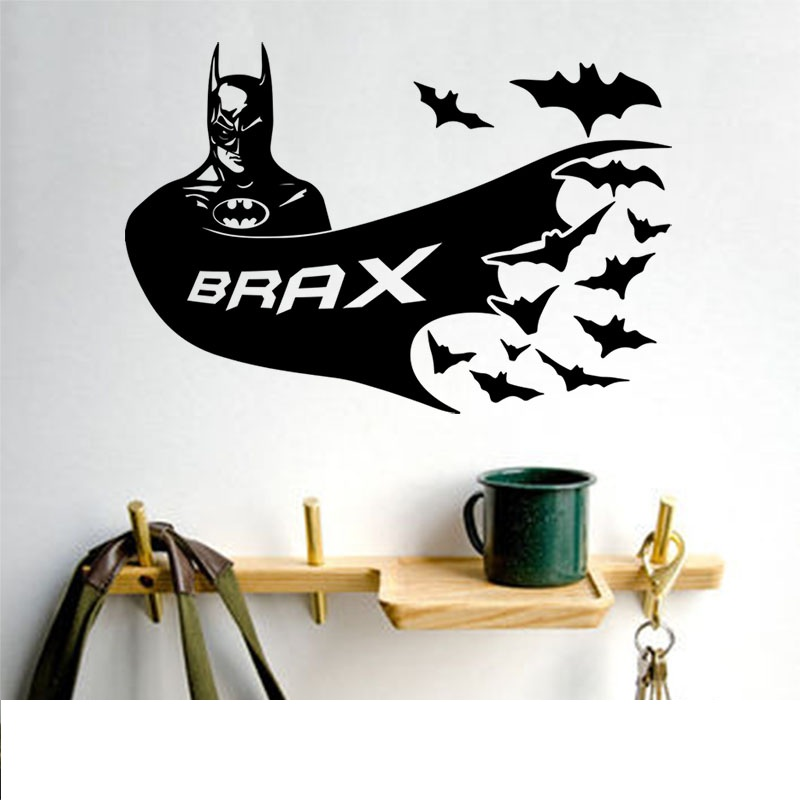 Children Room Wall Art Decor U2013 Personalised Name Decal: Batman 2