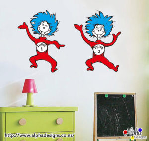 Thing 1 & Thing 2-Alpha Designs