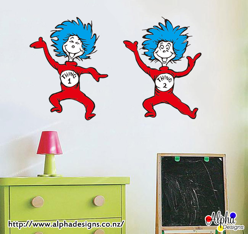 Thing 1 thing 2 alpha designs