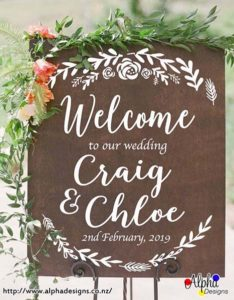 Wedding welcome decal for mirror, Celabration decoration sign, Vinyl graphic personalised sticker, Custion event wall decals