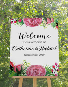 Wedding welcome decal for mirror, Celabration decoration sign, Vinyl graphic personalised sticker, Custion event wall decals; Wedding welcome foamboard signs;