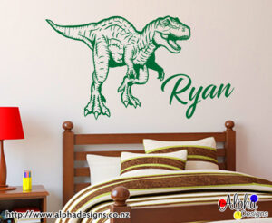 Personalized decal for kids, dinosaur prints